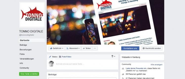 Der TONNO DIGITALE ist auch auf Facebook vertreten