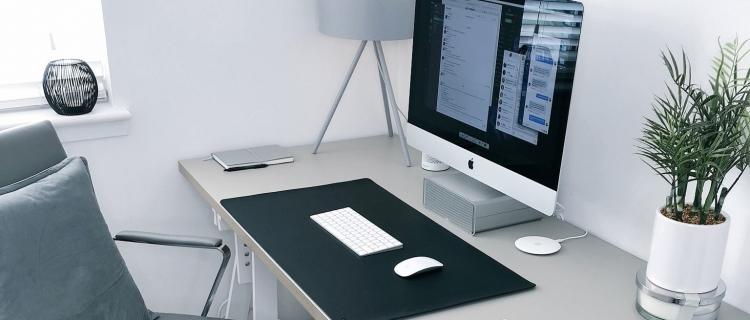 Home Office bedeutet ein getrennter Arbeitsplatz zu Hause