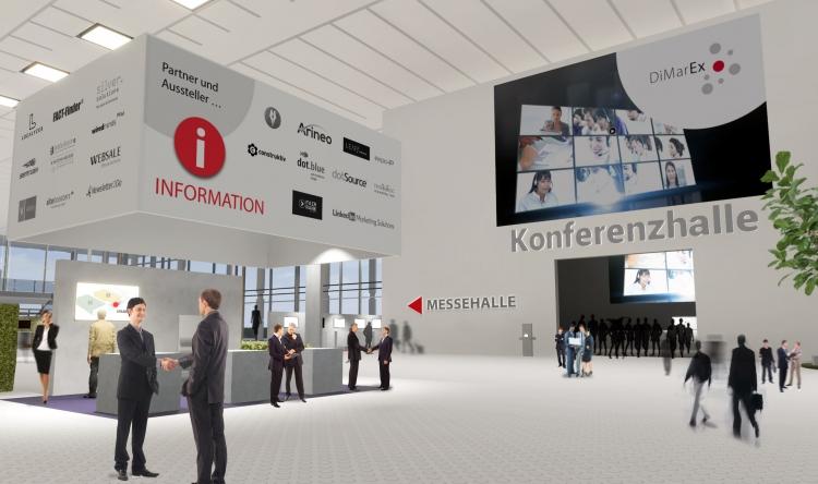Messestand virtuell Dimarex Foyer