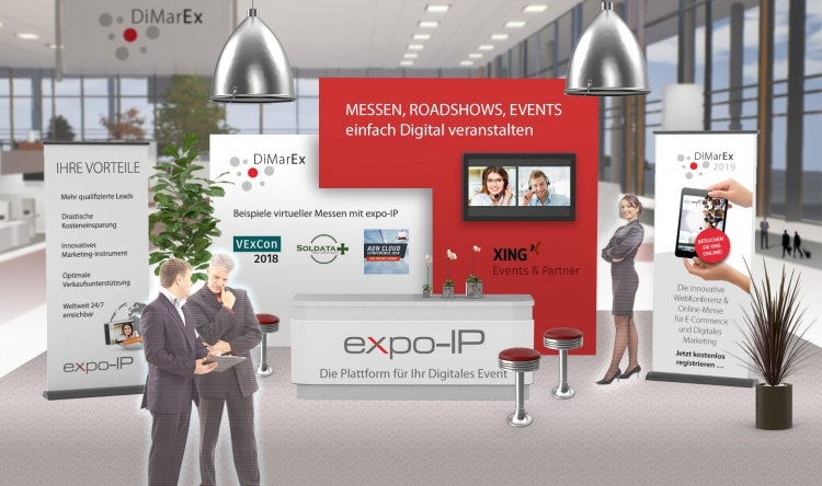 Messestand virtuell Dimarex