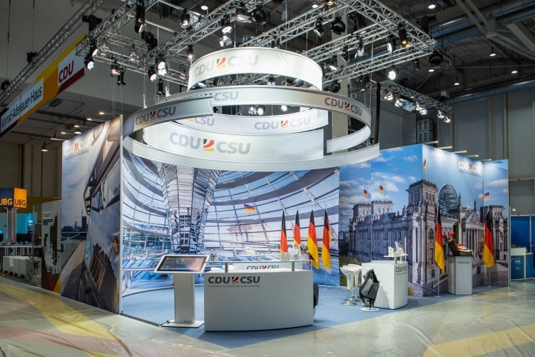 Messestand B2B Beratung Plan Konzept Messebau