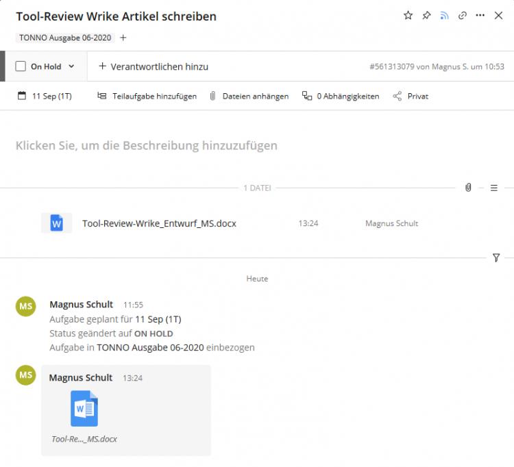 Wrike Review Aufgabenverteilung