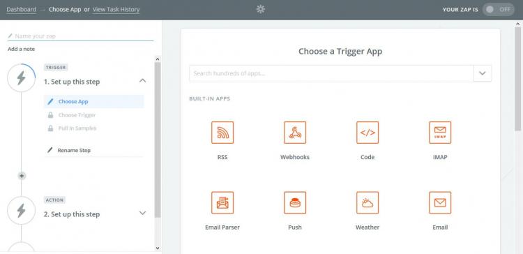 Zapier App Marketingautomation