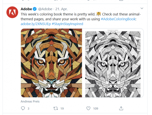 Adobe Colouring book