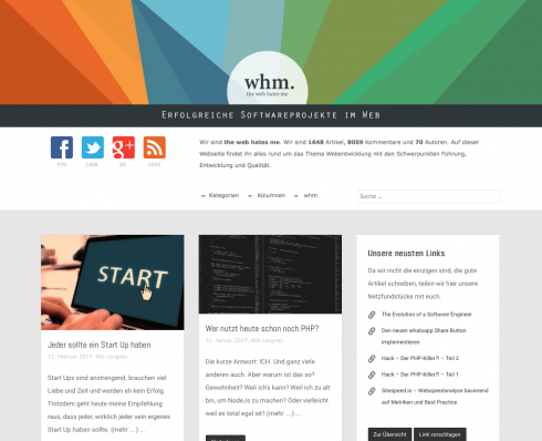 WHM – das Blog hat in den letzten Jahren eine Evolution vom PHP-Blog hin zu einem Software-Entwicklungs- und Technologie-Blog hingelegt