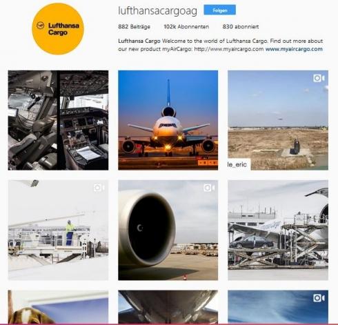 Lufthansa Cargo versorgt seine Follower regelmäßig mit hochwertigen Bildern aus der Luftfahrt