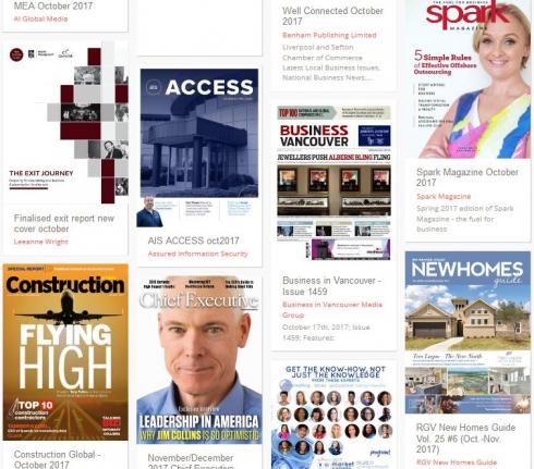 Auf der issuu-Webseite finden sich alle erstellten E-Paper aus unterschiedlichen Kategorien