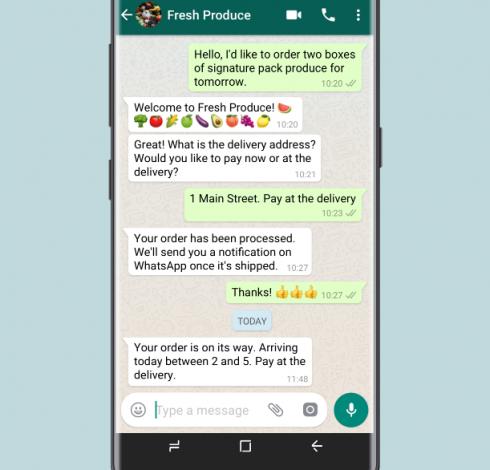 Per Chat können Unternehmen und Kunden direkt kommunizieren.