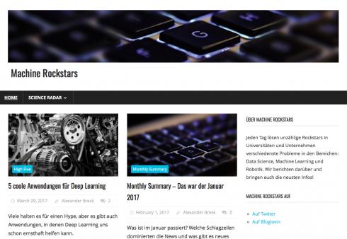 Mit Machine-Rockstars.com will Bresk der wissenschaftlichen Komponente stärker huldigen