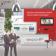 Digitaler Messestand B2B-Marketing