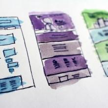 Skizzen für Landing Pages